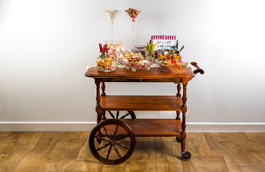 Vintage Wedding Sweet Cart
