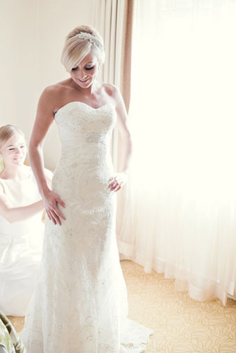 Glamorous lace wedding dress