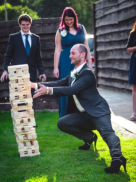 Guests enjoyed our Giant Jenga game