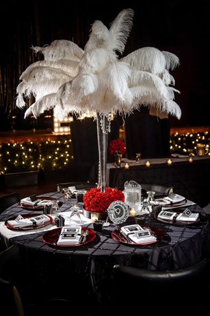 Old Hollywood Glamour table setting