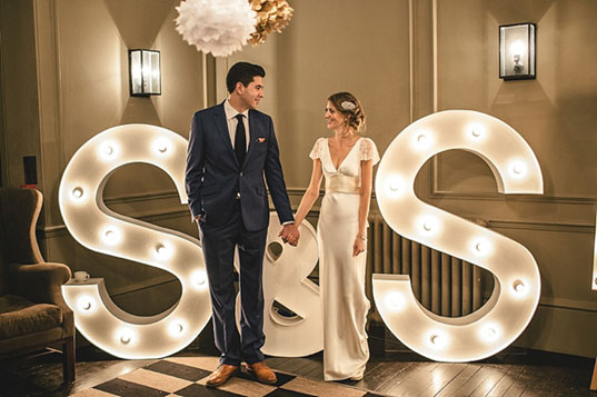 Giant light up letters for your wedding